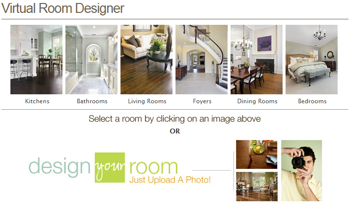 Design resource center helping you find the right product for Virtual room designer