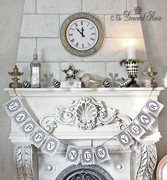 Makeover your Mantle for New Year's Eve!